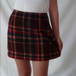 The Limited Wool Plaid Mini Skirt- Size 8
